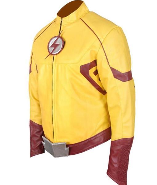 Wally West Kid Flash Leather Jacket