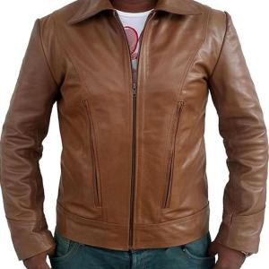 Logan Brown Leather Day Of Future Past Leather Jacket