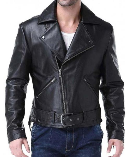 Ghost Rider Black Leather Jacket