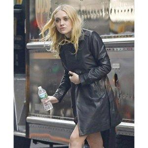 Ocean's 8 Dakota fanning Leather Coat