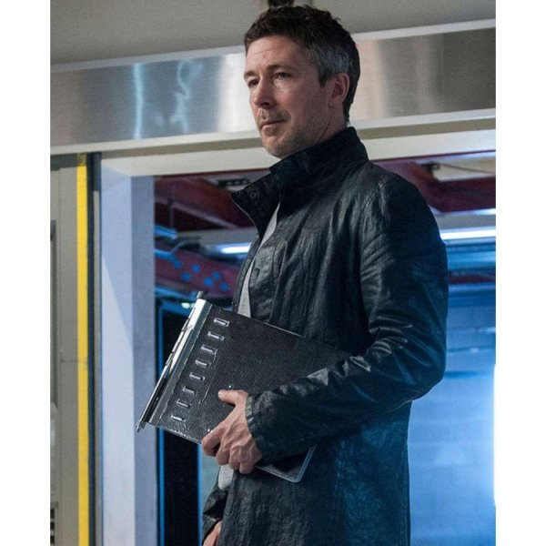 Aidan Gillen Maze Runner The Death Cure Leather Coat