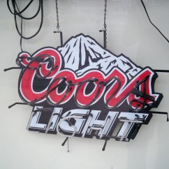 Coors Light Chair Revolving Adjustment Wiggly And Jiggly 39s English Pub Auction