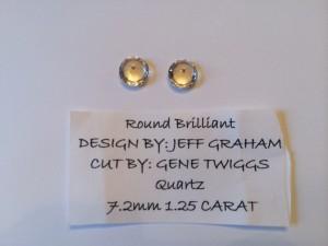 Gemstones Again Faceted Gemstones Round Brilliant Cut Quartz