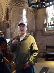 Rosslyn Chapel Beebop at the Apprentice Pillar