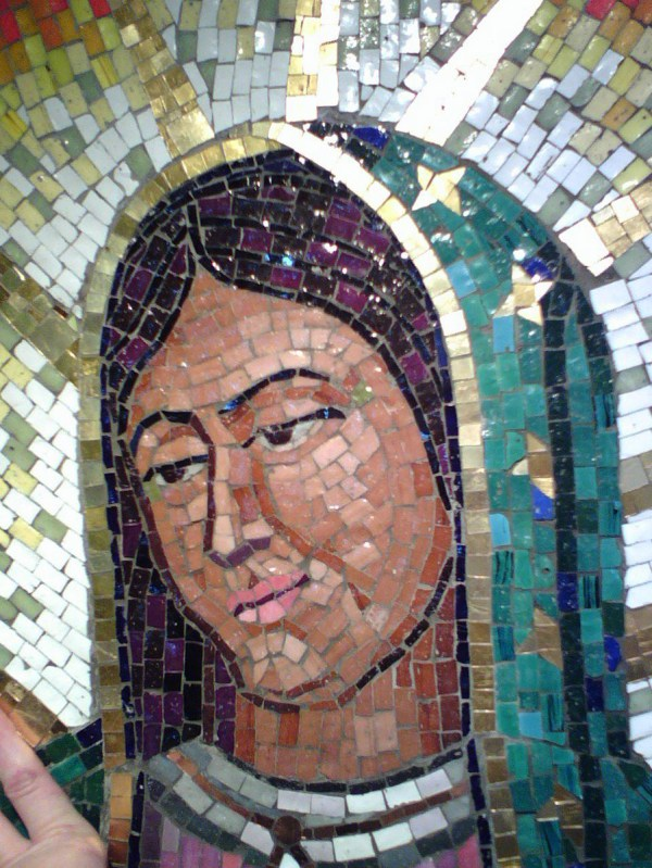 Images of Our Lady of Guadalupe Glass Mosaic
