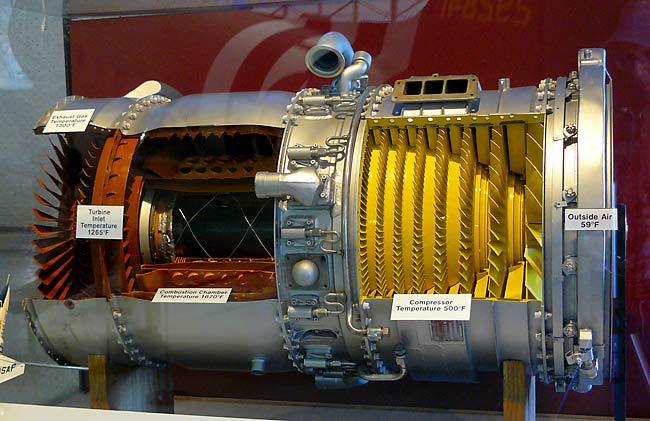 22 Ge J85 Turbojet Cutaway