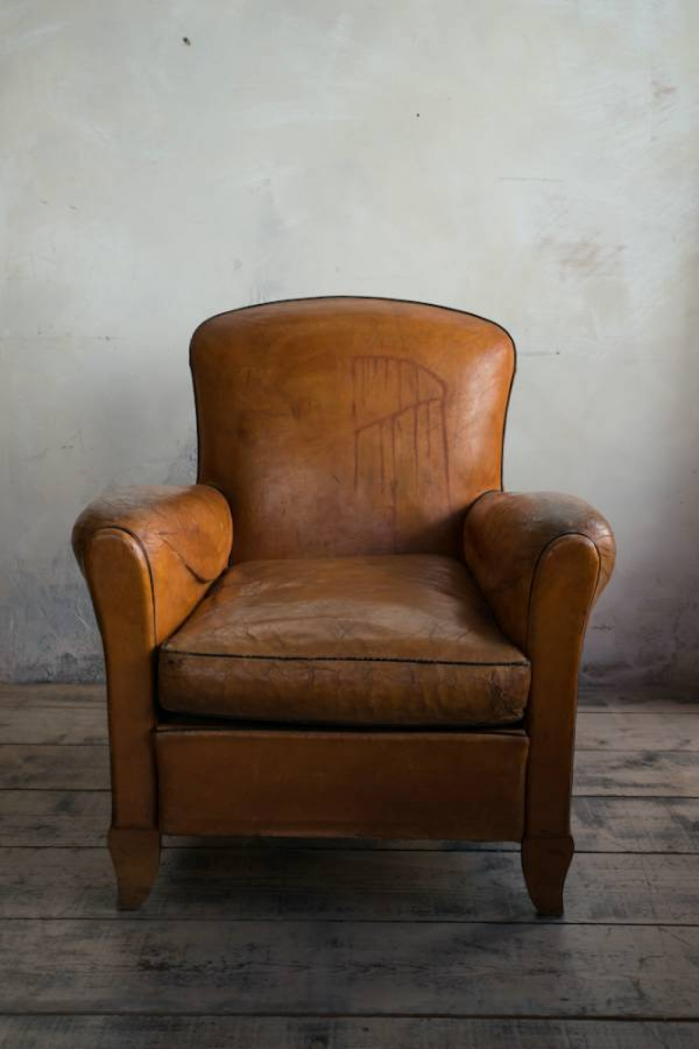 Leather Club chair of small proportions C 1935 in FURNITURE
