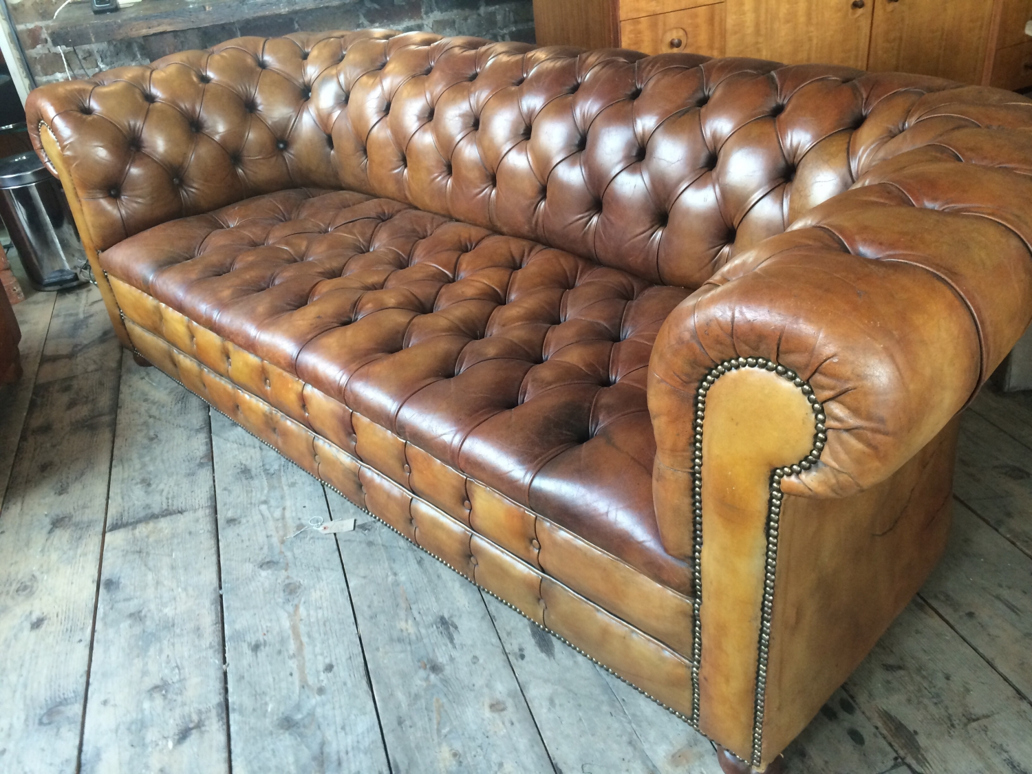 leather chesterfield sofa beige back to decorating ideas tan in furniture