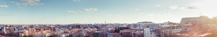 panorama of washington dc skyline