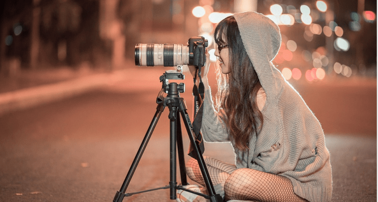 a professional phoographer taking photos