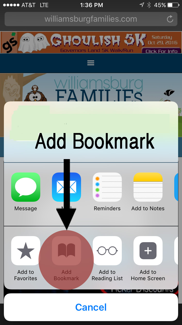 Add WilliamsburgFamilies Icon to your phone home screen - now our ...