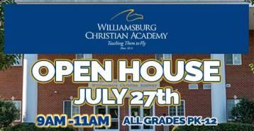 Williamsburg Christian Academy Open House'