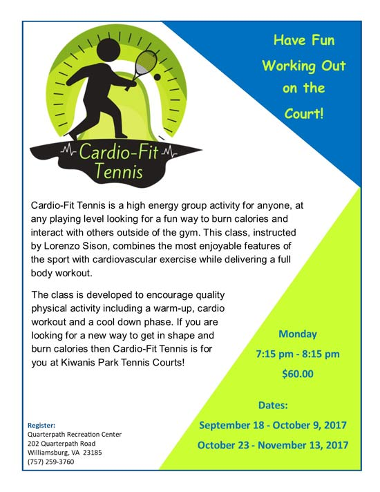 cardio fit tennis williamsburg