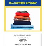 Walnut Hills Baptist Church Clothing Giveaway