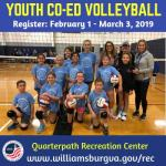Bump – Set – Spike! WilliamsburgRec Youth Co-Ed Volleyball League Registration happening now!