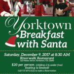 Breakfast with Santa at Riverwalk Restaurant in Yorktown –  Dec 9, 2017