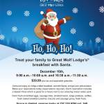 Great Wolf Lodge's Breakfast with Santa Dec 16th – comes with Spash Pass* – register: