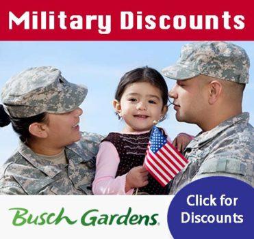 busch gardens military discounts