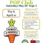Don't Miss the POP Club at the Williamsburg Farmers Market