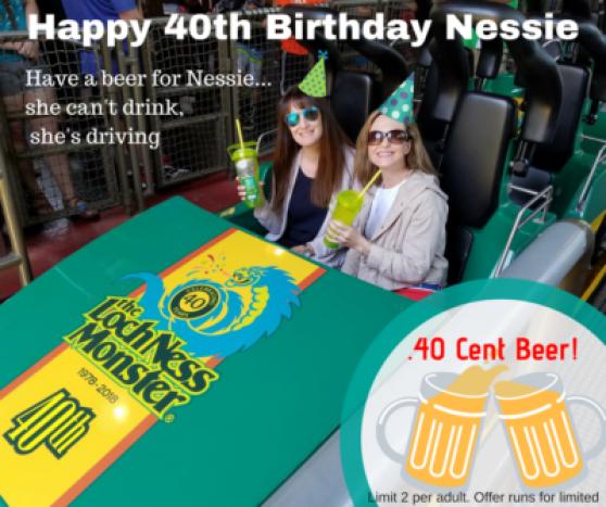 loch ness roller coaster turns 40