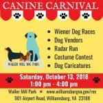 Canine Carnival -  Saturday, October 13, 2018 1:00 pm – 4:00 pm at Waller Mill Park