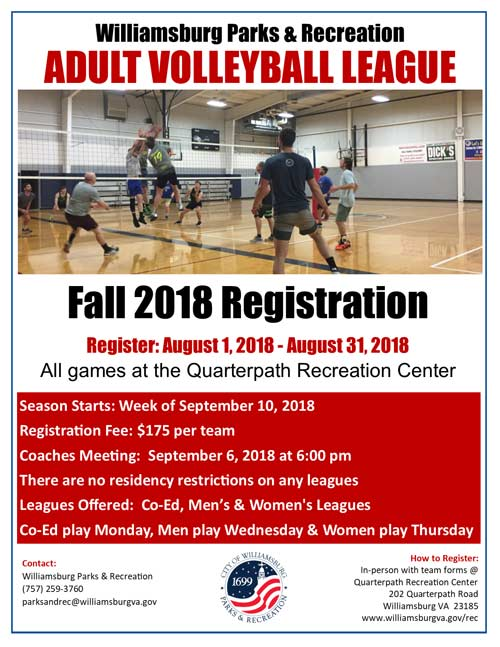 adult-volleyball-league-williamsburg-flyer