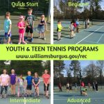 Kids and Teen Tennis – Grab a racket and join the fun! Youth Tennis Lessons at Kiwanis Park – WilliamsburgRec!