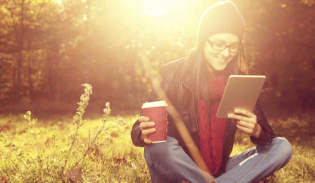 ebooks girl with coffee