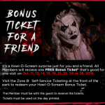 How to Redeem the Howl-O-Scream 2018 Bring A Friend Free