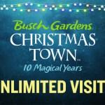 Busch Gardens Discount Tickets - Christmas Town & Howl-O-Scream 2018