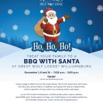 BBQ with Santa at Great Wolf Lodge and get that Santa photo -includes a Splash Pass for future visit!