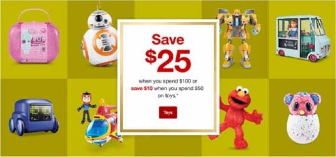 Don't Miss this Target Deal! Save $25 when you spend $100 or