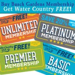 Special Offer! Buy Any Busch Gardens Membership Get Water Country FREE*
