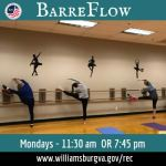 Adult Exercise Classes at WilliamsburgRec - Barreflow and Adult Modern Dance Now Registering