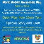 Celebrate World Autism Day at We Rock the Spectrum Kid's Gym in Williamsburg!
