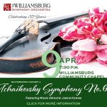 Fourth Masterworks Concert presented by Williamsburg Symphony Orchestra - April 9th