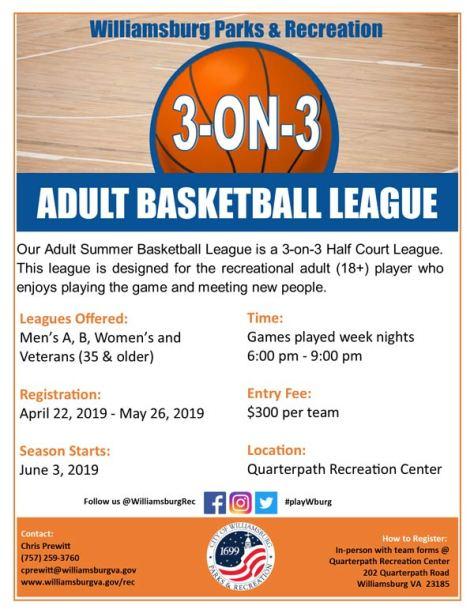 Basketballl-Adult-3on3-williamsburg-va