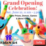 Kidz N Art GRAND OPENING Celebration June 22!