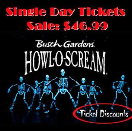 howl o scream busch gardens tickets