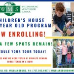 Children's House 3-6 Year Old Program at Williamsburg Montessori School NOW ENROLLING!