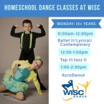 Homeschool dance classes at WISC DANCE are registering now!