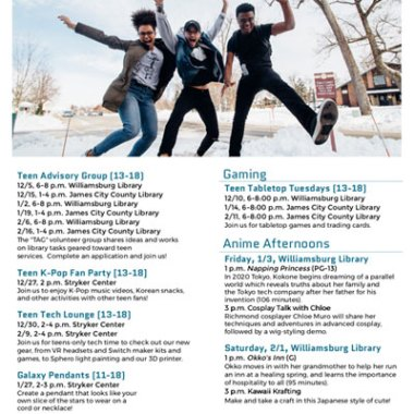 WRL Winter Events for Teens
