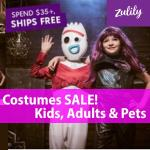 Halloween Costumes are on SALE at Zulily...kid to adult