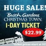 Busch Gardens 2019 Discounts for Christmas Town