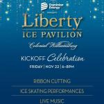 Liberty's Ice Pavilion Outdoor Ice Skating in Merchants Square Williamsburg Opening Nov. 22!