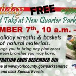 Make Holiday Wreaths and Baskets for FREE on Dec. 7. Registration ends Dec. 6