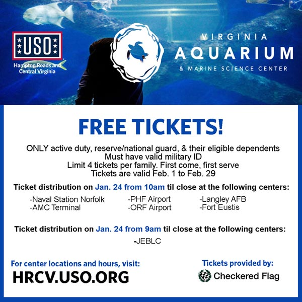 Fort Eustis Halloween 2020 Free tickets to the Virginia Aquarium for active duty, reserve