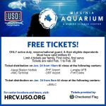Free tickets to the Virginia Aquarium for active duty, reserve/national guard & their eligible dependents...learn more: