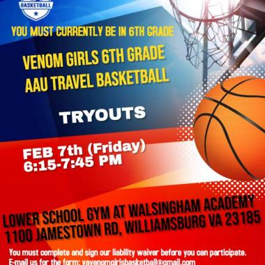 venom-girls-basket-ball tryouts williamsburg
