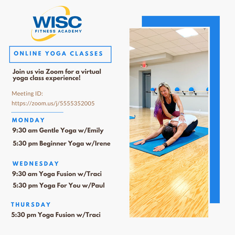 Wisc Offers Free Online Yoga Classes This Week March 16 18 19